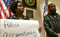 Protesters lash out at police shootings